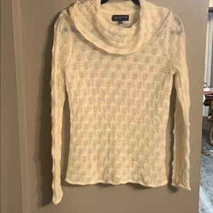 White lacy sweater